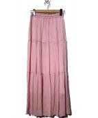 BABYLONE(バビロン)の古着「ティアードスカート」 ピンク