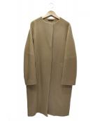 BARNYARDSTORM(バンヤードストーム)の古着「ノーカラーコート」|ブラウン