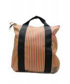 MARNI × PORTER(マルニ × ポーター)の古着「2WAYトートバッグ」|オレンジ