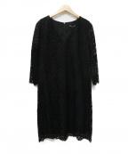 TARA JARMON(タラジャーモン)の古着「フラワーレースワンピース」|ブラック