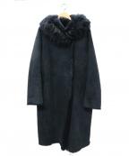 TARA JARMON(タラジャーモン)の古着「リバーシブルムートンコート」|ネイビー