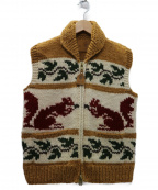CANADIAN SWEATER(カナディアンセーター)の古着「カウチンニットベスト」|ホワイト×ブラウン