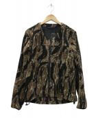 Needles Sportswear(ニードルズスポーツウェア)の古着「WARM-UP V NECK JACKET ジャケット」|ブラウン
