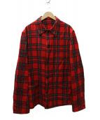 YS for men(ワイズフォーメン)の古着「タータンチェックウールジャケット」 レッド