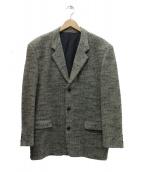 COMME des GARCONS HOMME(コムデギャルソンオム)の古着「ツイードダイヤ柄3Bジャケット」|グレー