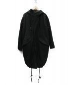 KIIT(キート)の古着「C/N高密度ギャバ弱撥水モッズコート」|ブラック