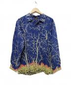 MASSES(マシス)の古着「RAYON PRINT SHIRT V アロハシャツ」|ブルー