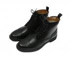 REGAL(リーガル)の古着「サイドジップウィングチップブーツ」|ブラック
