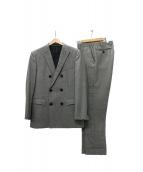 BURBERRY BLACK LABEL(バーバリーブラックレーベル)の古着「ダブルセットアップスーツ」 グレー