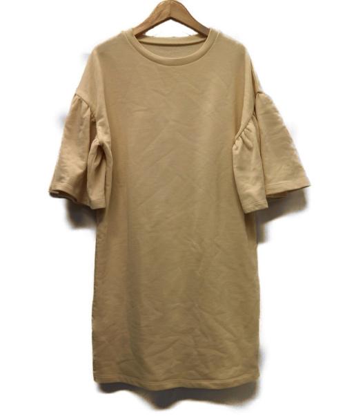 MM6(エムエムシックス)MM6 (エムエムシックス) ソフトスェットワンピース ベージュ サイズ:M 16SS 定価33.000円+税の古着・服飾アイテム