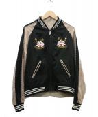 G.V.G.V(ジーヴイジーヴイ)の古着「Embroidered Bomberスカジャン」 ブラック