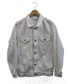 UNUSED(アンユーズド)の古着「デニムジャケット」|ホワイト