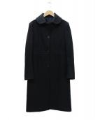 TONELLO(トネッロ)の古着「ロングコート」|ネイビー