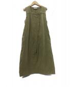 ISABEL MARANT ETOILE(イザベルマラン エトワール)の古着「ノースリーブコットンワンピース」|オリーブ