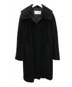 MaxMara(マックスマーラ)の古着「アンゴラMIXコート」|ブラック