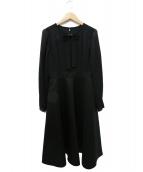 Rene basic(ルネベーシック)の古着「リボン・パール袖ワンピース」 ブラック