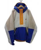 NIKE(ナイキ)の古着「HE HALFZIP HOODIE WINTERジャケット」|ブルー×アイボリー