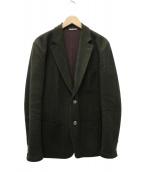 HERMES(エルメス)の古着「ツイード2Bジャケット」 オリーブ