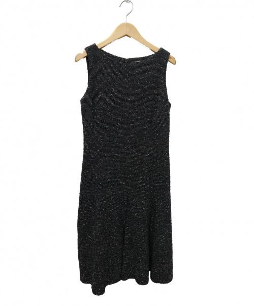 theory(セオリー)theory (セオリー) SMALLTWEEDYワンピース ブラック サイズ:2 01-6105552の古着・服飾アイテム