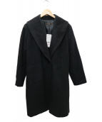 Reflect(リフレクト)の古着「ウールアンゴラロングコート」 ブラック