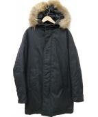 BEAUTY&YOUTH(ビューティーアンドユース)の古着「ヘリンボーンPTダウンコート」|グレー