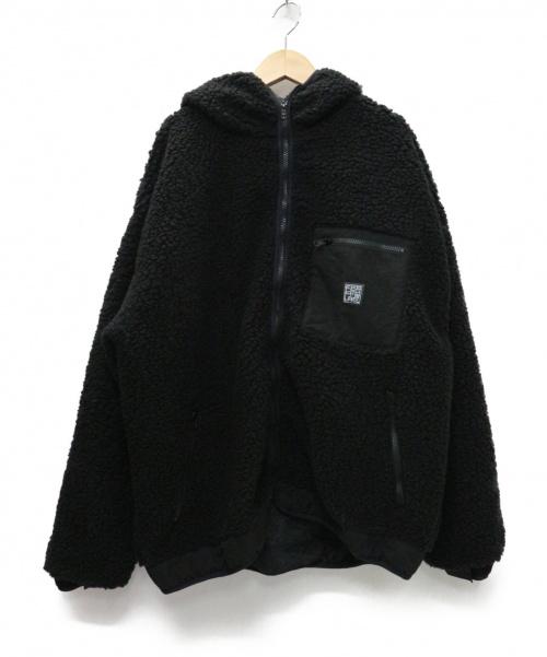 FLAGSTUFF(フラッグスタッフ)FLAGSTUFF (フラッグスタッフ) F/Z OVER HOODIE フリースジャケット ブラック サイズ:L 定価¥58.000+税の古着・服飾アイテム