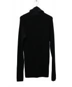 LIMI feu(リミフゥ)の古着「ウォッシャブル天竺モンキーセーター」|ブラック