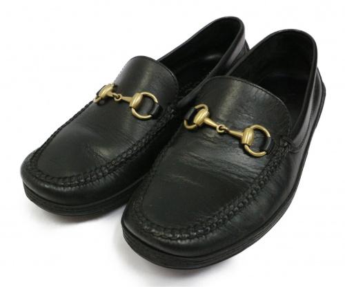 GUCCI(グッチ)GUCCI (グッチ) ビットローファー ブラック サイズ:41M 1100208の古着・服飾アイテム
