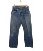 LEVIS(リーバイス)の古着「[古着] 66前期デニム ヴィンテージ デニム パンツ」|インディゴ