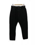 Sanca(サンカ)の古着「BLK DENIM TAPERED 5Pデニムパンツ」|ブラック