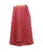 SHE TOKYO(シートーキョー)の古着「フェアツイードスカート」|ピンク