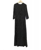 SINME(シンメ)の古着「POLKA DOT MAXI DRESS ドットワンピース」|ブラック
