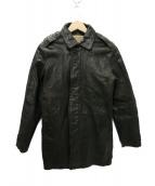 AVIREX(アビレックス)の古着「レザーコート」|ブラック
