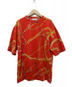 BALENCIAGA(バレンシアガ)の古着「BIJOUX OVERSIZE T-SHIRT Tシャツ」|レッド