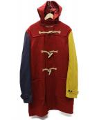 J.PRESS(ジェイプレス)の古着「クレイジーパターン ダッフルコート」|レッド