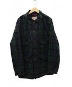 FILSON GARMENT(フィルソンガーメント)の古着「オイルドクルーザージャケット」|ブラック×グリーン