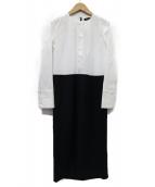 YOKO CHAN(ヨーコチャン)の古着「レイヤードドレス ワンピース」|ホワイト
