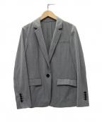 qualite(カリテ)の古着「強燃梨地テーラードジャケット」|グレー