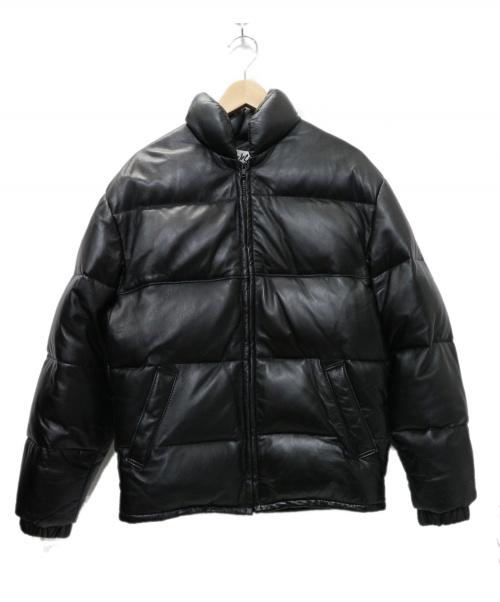 Schott(ショット)Schott (ショット)  214Dレザーダウンジャケット ブラック サイズ:36  214D 参考価格99.360円 USA製の古着・服飾アイテム