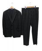 ARMANI COLLEZIONI(アルマーニコレツォーニ)の古着「ストライプ 2Bスーツ」|ブラック×グレー