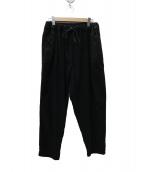 小倉商会 og(オグラショウカイ OG)の古着「リネンイージーワイドパンツ」 ブラック