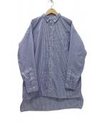 Americana(アメリカーナ)の古着「タイプライターストライプBIGシャツ」|ネイビー×ホワイト