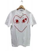 PLAY COMME des GARCONS(プレイコムデギャルソン)の古着「ハートTシャツ」|ホワイト