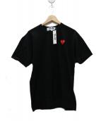 PLAY COMME des GARCONS(プレイコムデギャルソン)の古着「ワンポイントハートTシャツ」|ブラック