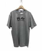 PLAY COMME des GARCONS(プレイコムデギャルソン)の古着「プリントハートT」|グレー