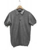 JOHN SMEDLEY(ジョンスメドレ)の古着「ポロシャツ」|グレー