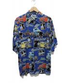 reyn spooner(レインスプーナー)の古着「ビーチボーイズ アロハシャツ」|スカイブルー