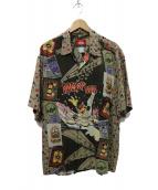reyn spooner(レインスプーナー)の古着「MICKEY MOUSEアロハシャツ」|ブラウン