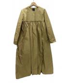 YOKO CHAN(ヨーコチャン)の古着「ギャザーコート」|ベージュ