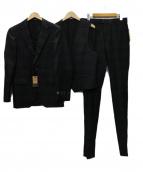 COMME CA MEN(コムサメン)の古着「F.LLI CERRUTI生地3ピーススーツ」|チャコールグレー